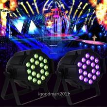 LED DJ PAR 18 X 10W LIGHTS 180Watt RGBW 4in1 DMX PAR64 Quad Stage Lighting