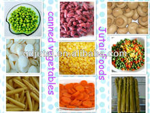 All Kinds of Canned Vegetables
