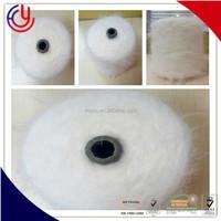 cheap fancy spun poliester yarn feather polyester nylon angora 7 G 5gg hairy mink eyelash yarn feather