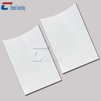White Blank ID PVC Plastic Business coated paper rfid card blocking sleeves