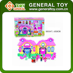 88*47.6*8cm big toy house / my happy family house toy with light & music