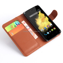 Cheap Price New Arrival Wallet Leather Desk Stand Phone Case for Wiko Birdy