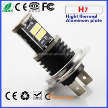 12V 850LM Car H7 canbus fog Light H7 LED fog light h7 PX26D/PX26S led fog light 15 SMD 2835 3528 Yellow Red White