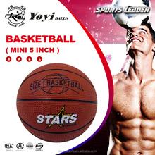 small mini 5 inch rubber basketball