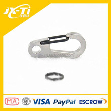 High Quality Titanium Carabiner , Rustless Mountain Climbing Hook