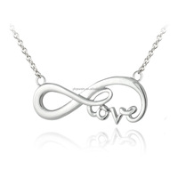 Silver Jewelry Directly Sale Fashion Sterling Silver Infinity Love Necklace From China
