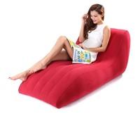 PVC Inflatable Sofa Flocking S-Shape Chair