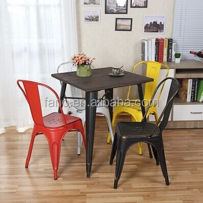 MCH-1501 Antique metal side chair multicolor metal dining chairs