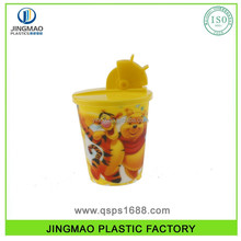 3D Plastic Drinking Cup with Lid and Straw