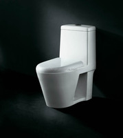 White CE Approved Sanitary Wear western wall hung toilet one piece toilet for hotel