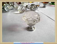 Cheap Diamond Polished Crystal Door Knobs For Cabinet Drawer Pull Handles