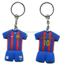 Custom sports shaped key chain; rubber material soccer key ring