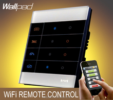 Best Sales Wallpad White Glass Zigbee 4 Gangs Mobile WIFI Wireless Android IOS Wifi Remote control Wall Light Power Switches