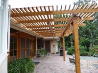 wpc fire-resistant pergola the most practical WPC gazebo wpc decking