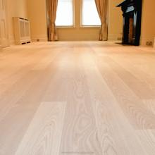 Real ash wood flooring laminate natural solid finish