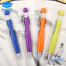 2015 hot design plastic short ballpoint pen with bowling design