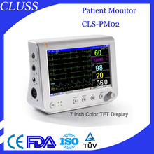 Cheapest Patient Monitor Devices CLS-PM02 Portable Patient Monitor Price With 7 inch color TFT display