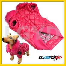 Lovely Magenta Cotton Dog Coat Autumn / Winter Clothes (Size: M)