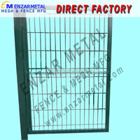 designed steel pipe fence gate (factory)