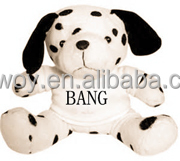 logo giveaway t-shirt bandana custom imprinted dress promotional plush stuffed soft dog white t-shirt mascot beanbag bib tie rib