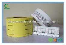 PVC/PE laminated film for suppository pharmaceutical packing