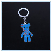 Blue bear cute animal shaped keychain perfect customizable holiday gift or birthday present