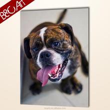 Hot art for kids room decor lovely dog canvas print famous animal oil painting