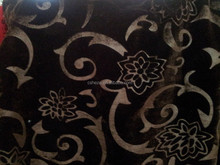 Embossed panne velour fabric with stretch
