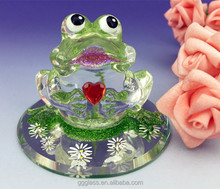 2015 new hand blown glass frog figurines wholesale