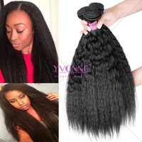 Grade 5a kinky straight wholesale brazilian human hair sew in weave