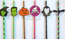 2015 Hot sale Striped Paper Straws For Halloween