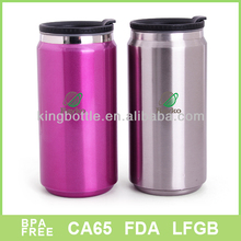 Aluminum material double wall color coating can