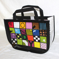 Modern promotional laminated pp non-woven shopping bags