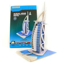 Educational 3D Wooden Puzzle Toy Dubai Hotel puzzle