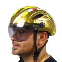 Unique bicycle helmet with sun visor