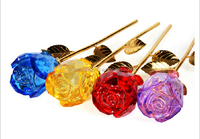 Beautiful attractive crystal glass rose for wedding retern gifts