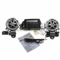 Motorcycle Handlebar FM Radio Sound Audio System 12V
