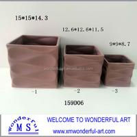 new square ceramic elegant flower pot for home decor