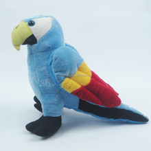 23cm Bright color standing birds stuffed realistic flying toys