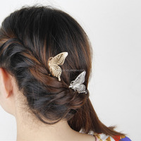 Wholesale Jewelry Butterfly Shaped Ladies Fancy Magnetic Hair Clip