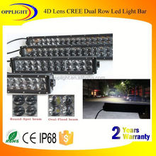 led bar light 4d optic reflector dual row light bar 3watt auto car work outdoor led light bar