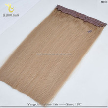 Alibaba Golden Supplier Remy Soft Silky Smooth Wholesale double drawn women fish wire hair