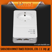 2015 HomePlug AV2 (500+Mbps) Powerline Mini Passthrough adapter powerline ethernet