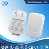 xingyuan manufacture white color 6v 1a USB power adaptor for LED lights