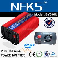 top supply 600w power inverter manufacturer 220v 12v USB port pure sine DC AC