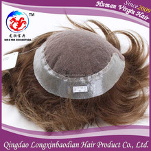 Alibaba Express Brown Color Customization Handsome Men Hair Toupee
