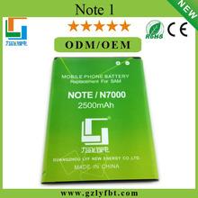 Hihh quality low price Guangzhou factory manufacturing 2500 mah li-ion de la bateria for Note1