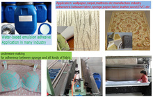 Water-Soluble cold laminating adhesive for textile/fabric/paper/leather/PVC/EVA/PE/PU material bonding