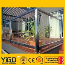 Barandilla de aluminio precios/de aluminio vidrio balcón barandilla