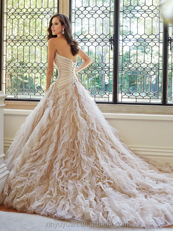 Bling Wedding Dresses Pink Blush Pink Wedding Dresses